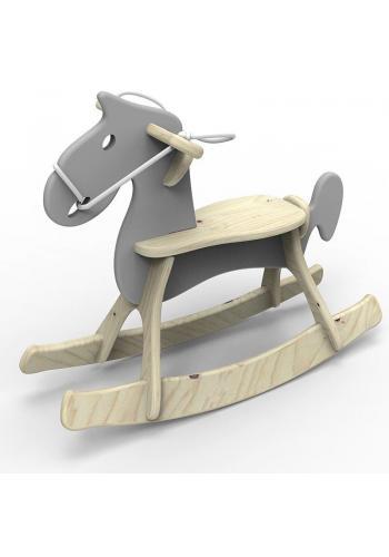 Biely hojdací kôň pre deti