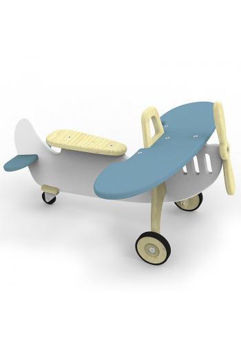 Detské odrážadlo - lietadlo v bielo-sivej farbe