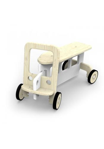 Modré odrážadlo - auto na kolieskach pre deti