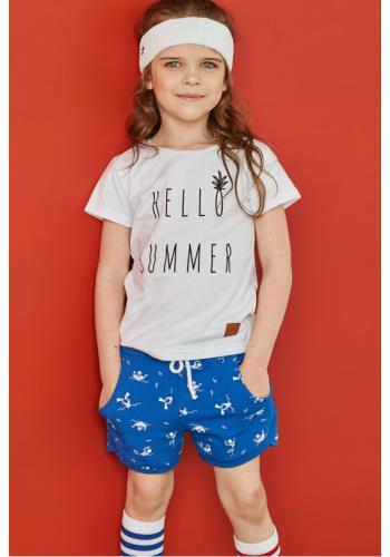 Detské tričko s nápisom HELLO SUMMER v bielej farbe