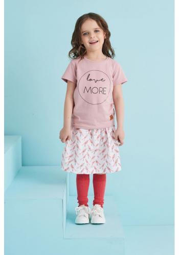 Ružové tričko s nápisom LOVE MORE pre deti
