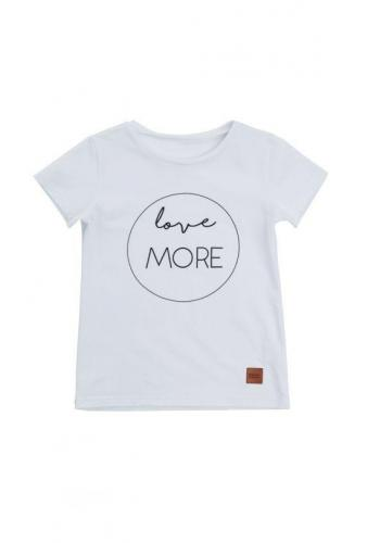 Detské tričko s nápisom LOVE MORE v bielej farbe