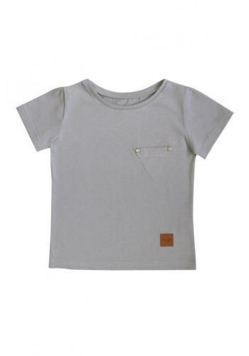 Sivé tričko s vreckom pre deti