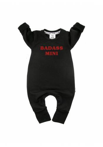 """Čierny overal s nápisom """"badass mini"""" pre deti"""