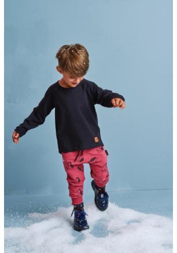Detský bavlnený nátelík v čiernej farbe