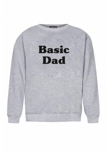 """Pánska mikina s nápisom """"basic dad"""" v sivej farbe"""