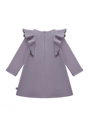Šaty s volánikmi svetlo fialovej farby