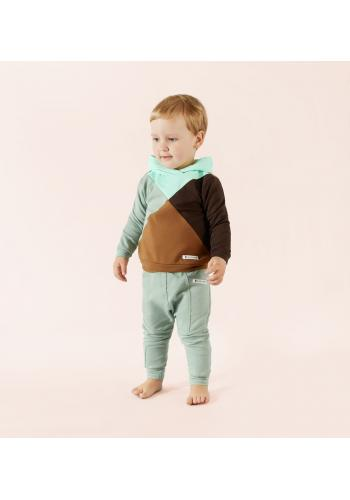 Tepláková súprava s mätovou kapucňou pre chlapcov