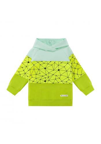 Farebná tepláková súprava s geometrickým motívom pre chlapcov