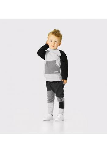 Bavlnená šedá tepláková súprava pre chlapcov