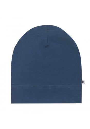 Bavlnená čiapka v modrej farbe