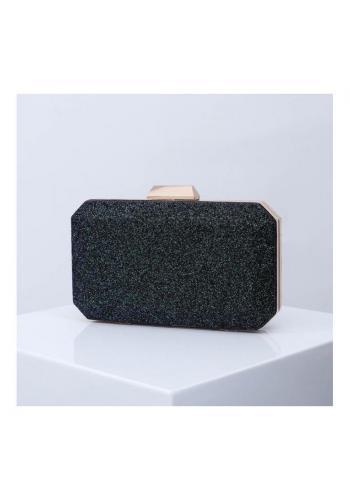 Brokátová dámska kabelka čiernej farby