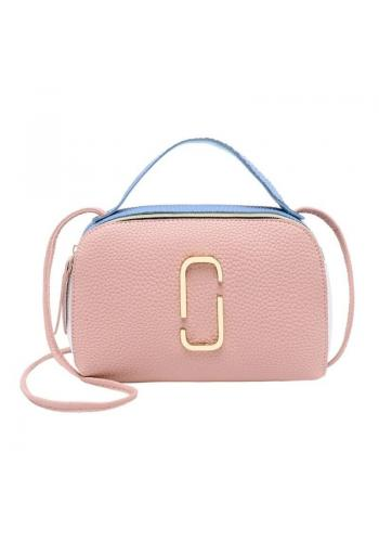 Ružová mini kabelka z ekokože pre dámy