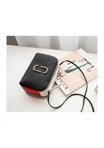 Dámska mini kabelka z ekokože v čiernej farbe
