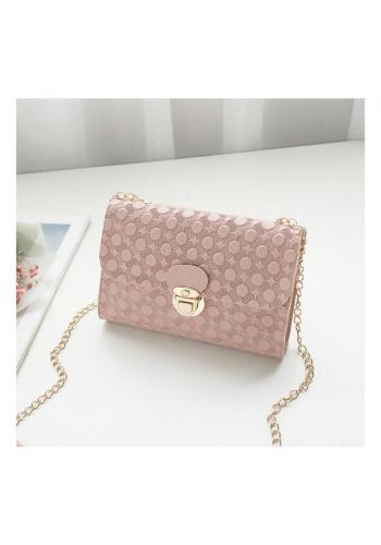 Elegantná dámska mini kabelka ružovej farby so vzorom