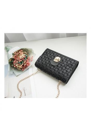 Čierna elegantná mini kabelka so vzorom pre dámy