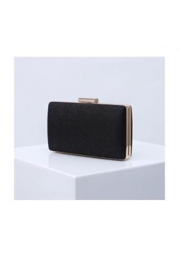 Dámska trblietavá kabelka v čiernej farbe