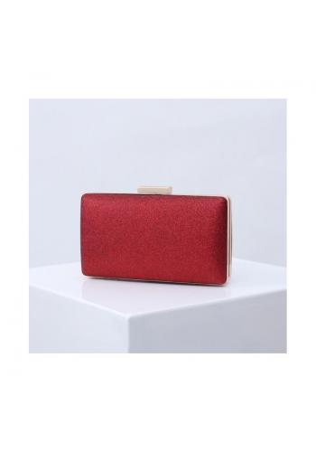 Červená trblietavá kabelka pre dámy