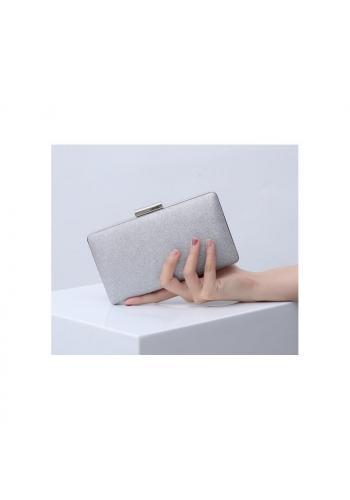 Dámske trblietavé kabelky v striebornej farbe