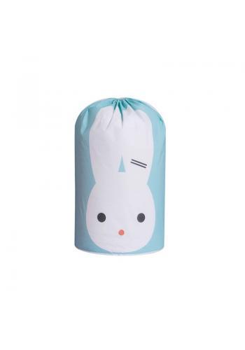 Modrý kôš na hračky s motívom zajaca