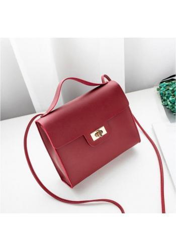 Mini dámska kabelka červenej farby z ekokože