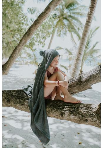 Bambusový detský uterák v tmavosivej farbe