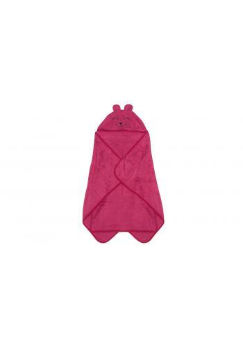 Bambusový detský uterák v malinovej farbe