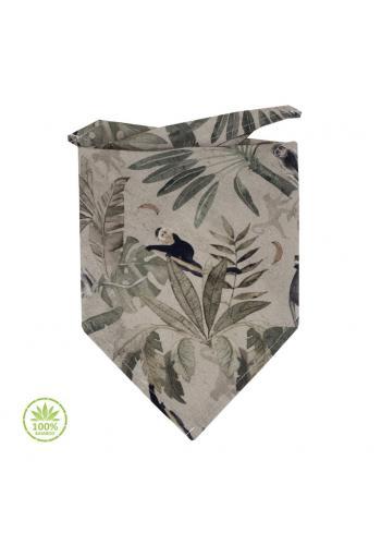 Bambusová šatka s motívom opíc