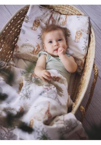 Detská posteľná sada s výplňou s motívom Safari
