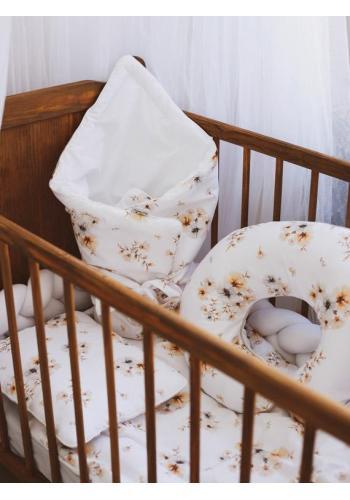 Dojčiaci vankúš na kŕmenie v tvare C - Boho Flowers