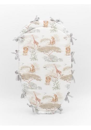 Uzlikové detské hniezdo PREMIUM 2 v 1 - svetlosivá/ Safari