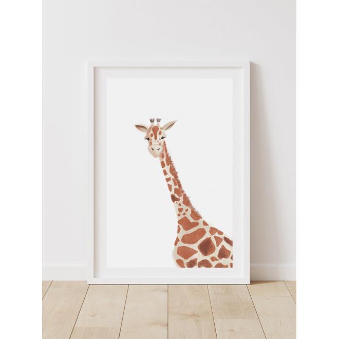 Detský dekoračný plagát so žirafou