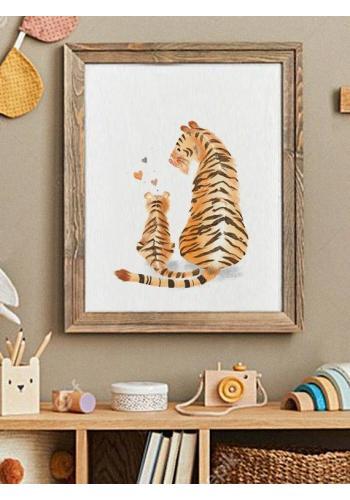 Detský dekoračný plagát s obrázkom tigra