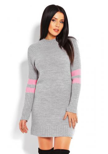 Svetlo modré asymetrické šaty pre dámy