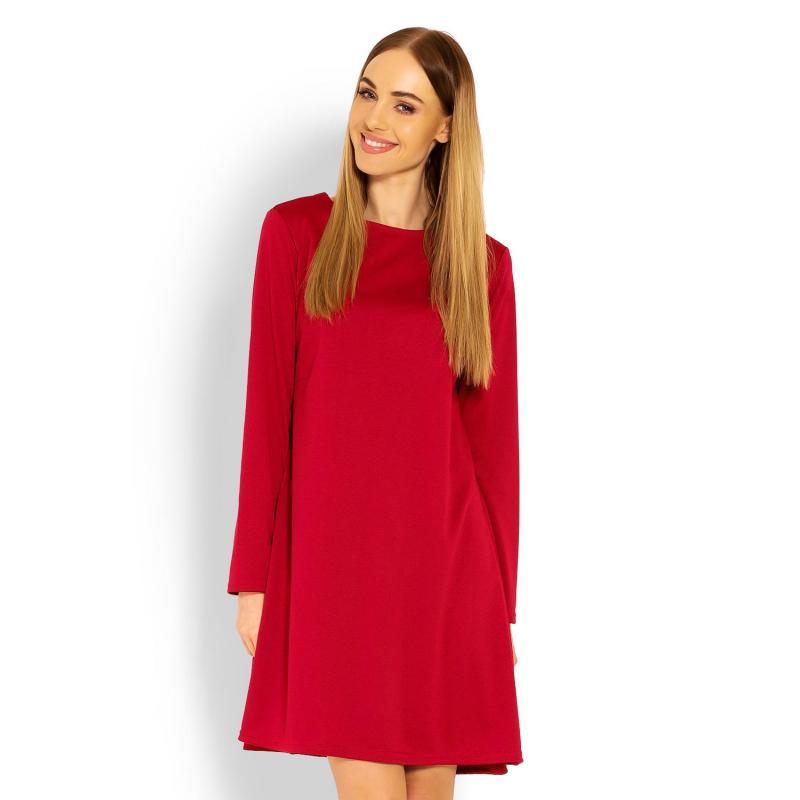 b10cedf914ef Dámske šaty s voľným strihom v červenej farbe - premamku.sk