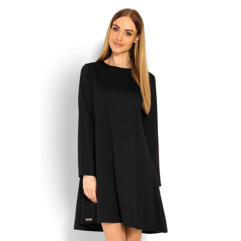 ef30561aea21 Čierne šaty s voľným strihom pre dámy - premamku.sk