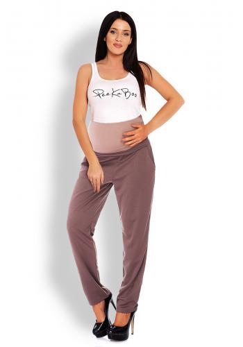 Tehotenské nohavice so zvýšeným pásom v čiernej farbe