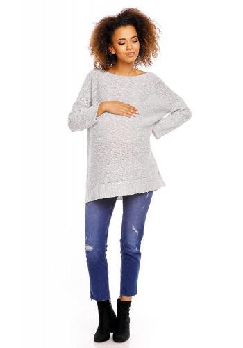Bordové voľné šaty s vreckami pre tehotné