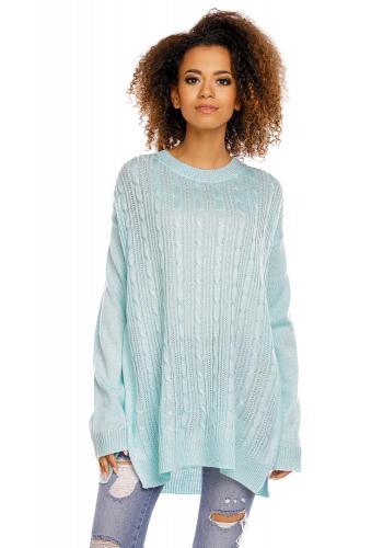 Dámsky mätový sveter so zipsami na boku