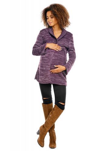 Dámsky tmavosivý sveter so zipsami na boku