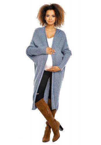 Mätový oversize dlhý plášť pre tehotné