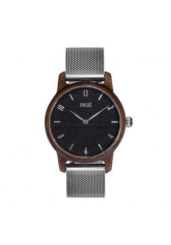 Zlato-sivé drevené hodinky s kovovým remienkom pre dámy