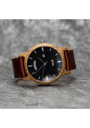 Pánske drevené hodinky s textilným remienkom v sivej farbe
