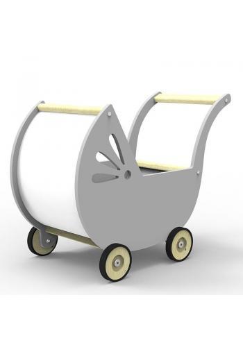 Hojdací kôň pre deti v sivej farbe