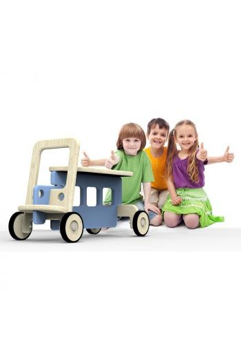 Sivé odrážadlo - los na kolieskach pre deti