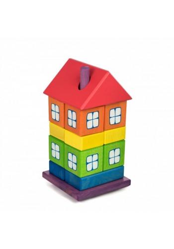 Dúhový domček z kociek pre deti