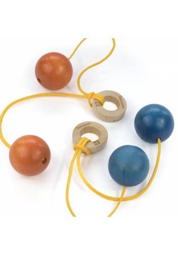 Klik-klak guličky pre deti v modrej farbe