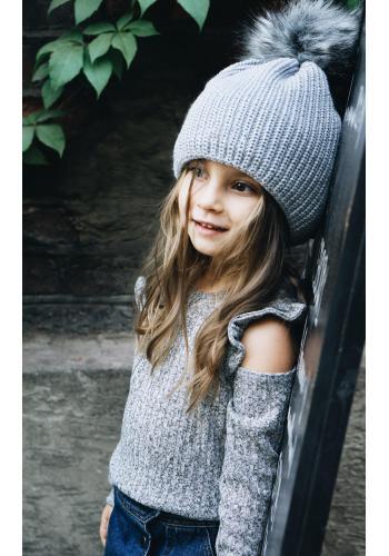 Dievčenská bavlnená tunika v horčicovej farbe s volánom