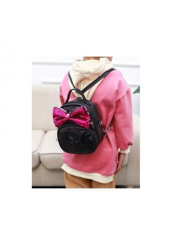 Štýlový ruksak červenej farby s dekoračným viazaním