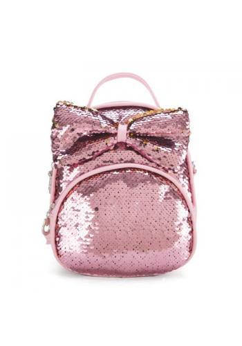 Ružový štýlový ruksak s farebnými flitrami pre deti